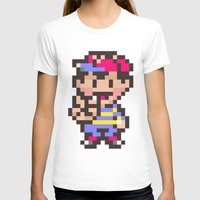 earthbound T-shirts featuring Ness (Peace) - Earthbound / Mother 2 by Studio Momo╰༼ ಠ益ಠ ༽