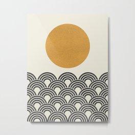 Sun & Wave - Oriental Pattern Metal Print