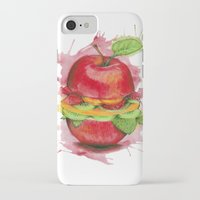 burger iPhone & iPod Cases featuring burger by JBdesign