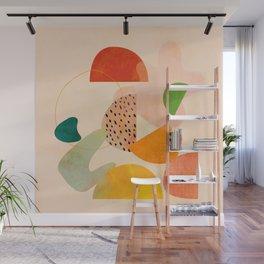 modern art abstract shapes play 1 Wall Mural
