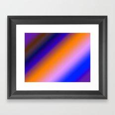 Orange & Blue Stripes Framed Art Print