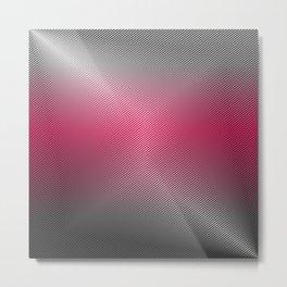 Metallic Hot pink Sheen Metal Print