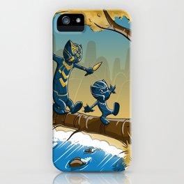 Black Panther And Golden Jaguar iPhone Case