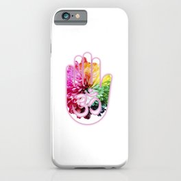 Zen Ohm Hamsa Colorful Flower iPhone Case