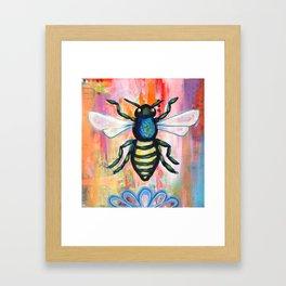 Sweet Honey Bee Framed Art Print