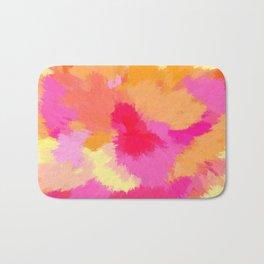 Pink, Orange and Yellow Watercolors Bath Mat