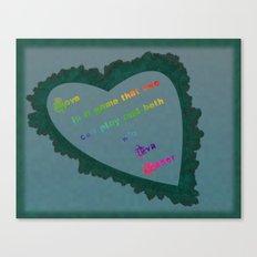 Love Wins - Eva Gabor Canvas Print
