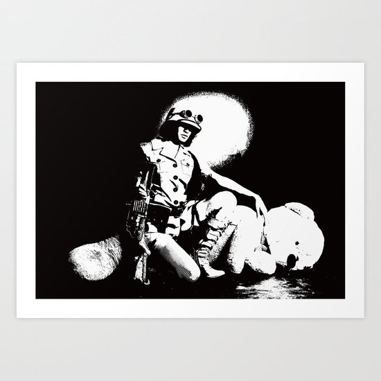 Teddy Bear Hunting Art Print