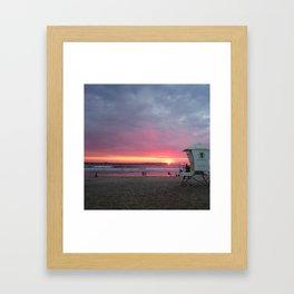 Ocean Beach Sunset Framed Art Print