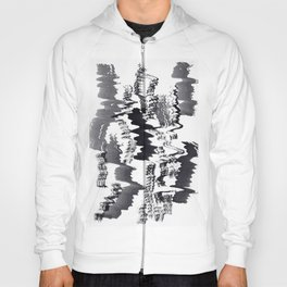 ink explorations (077) - abstract black india ink painting Hoody