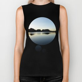 Indian summer sunset at the fishing lake V   waterscape photography Biker Tank