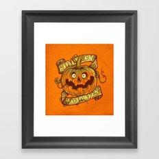 Halloween orange Framed Art Print