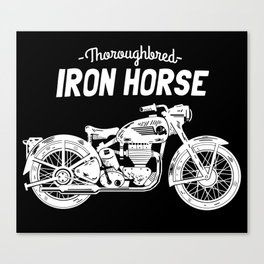 Thoroughbred Iron Horse Canvas Print