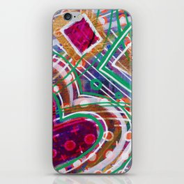 Movement from the Heart Space: Inner Power Painting iPhone Skin