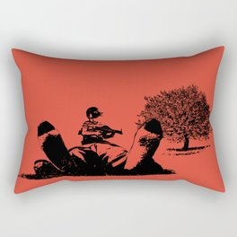 Arnie Get Your Gun Rectangular Pillow