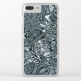 Liquid Skull Clear iPhone Case