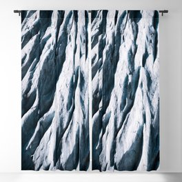 Arctic Glacial Pattern from above - Landscape Photography Blackout Curtain