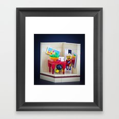 Drop, Cover & Hold Framed Art Print