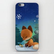 Fox & Boots - Winter Hug iPhone & iPod Skin