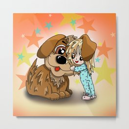 Big doggy hug time Metal Print