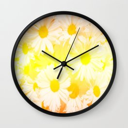 Sunshine Daisies Wall Clock