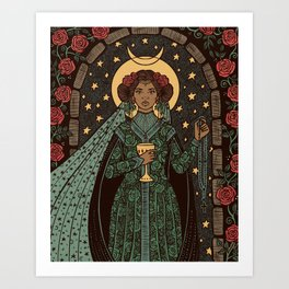 Our Lady Queen of Cups Art Print