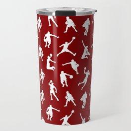 Basketball Players // Maroon Travel Mug