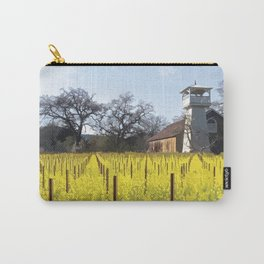 Water Tower & Mustard - Napa Valley - St. Helena District Carry-All Pouch