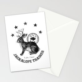 5 star certified jackalope trainer Stationery Cards