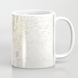 Old 1852 Historic State of Palestine Map Coffee Mug