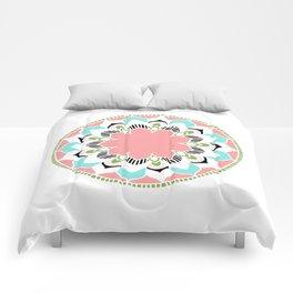 Mandala: White and Pink Comforters