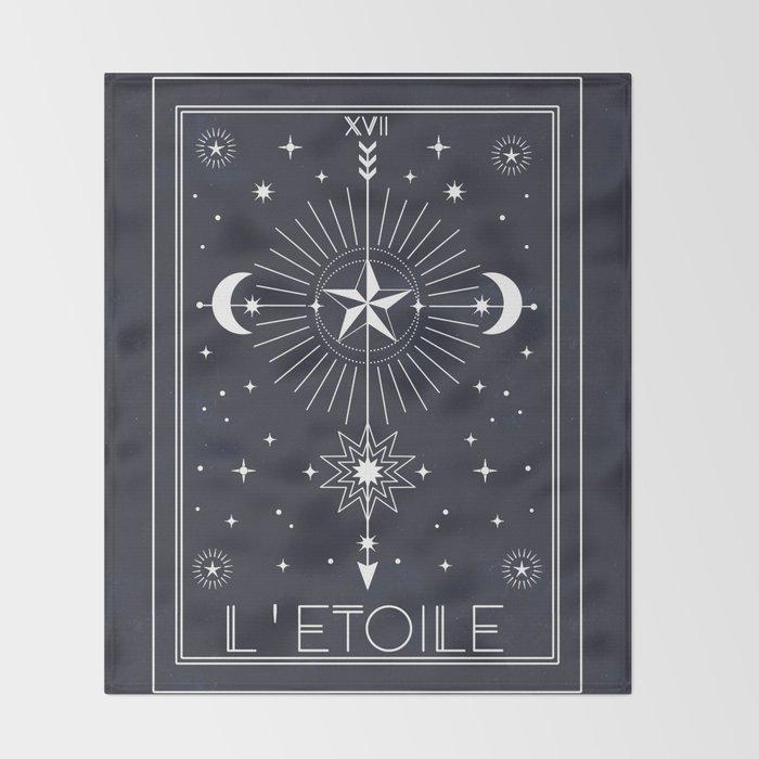 L'Etoile or The Star Tarot Throw Blanket