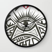 all seeing eye Wall Clocks featuring All seeing eye by Andready