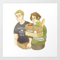 stucky Art Prints featuring stucky domestic by maria euphemia