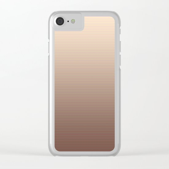 RoseGold Stripes Clear iPhone Case