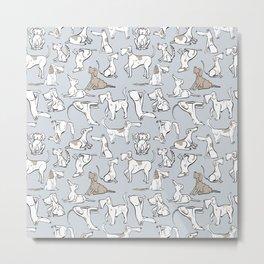 Dog Gone It Pattern Metal Print