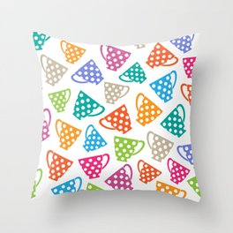 Funny cups Throw Pillow