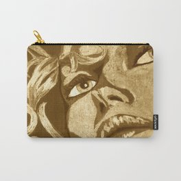 Vintage uplifted lady portrait Carry-All Pouch