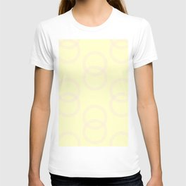 Simply Infinity Link Pink Flamingo on Pale Yellow T-shirt