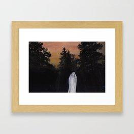 Burning Blue Framed Art Print