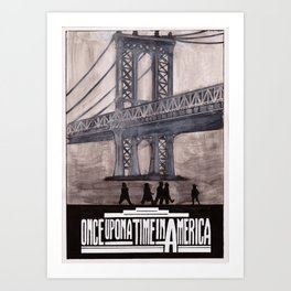 once upon a time in america poster Art Print