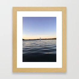 Sailing Lake Nokomis Framed Art Print