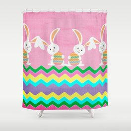 Easter Chevron Pattern Shower Curtain