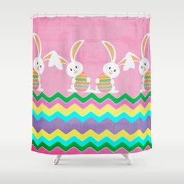 Easter Chevron Pattern Shower Curtain
