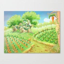 Carotte deluxe, concept art Canvas Print