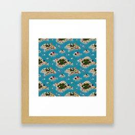 Trash Islands Framed Art Print