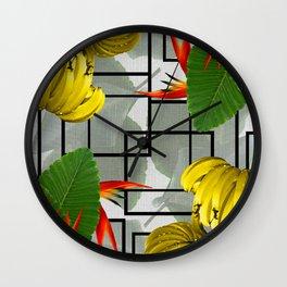 Tropical Squares Wall Clock