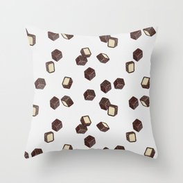 Lamingtons on Vanilla Throw Pillow