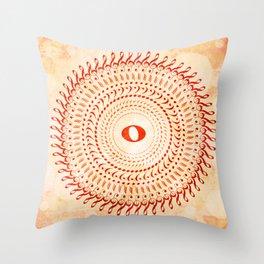 Watercolor music mandala no 2 Throw Pillow