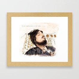beginning • end Framed Art Print